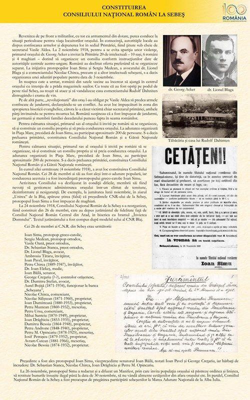Constituirea Consiliului Național Român la Sebeș
