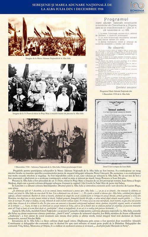 Sebeșenii și Marea Adunare Națională de la Alba Iulia din 1 Decembrie 1918