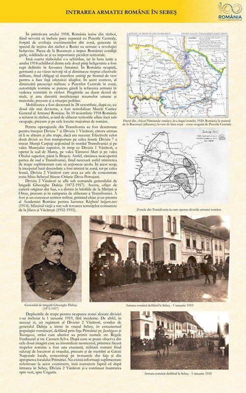 Intrarea armatei române în Sebeș