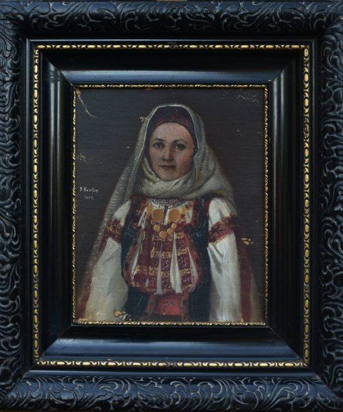 PORTRET DE FEMEIE (ŢĂRANCĂ) - 1883