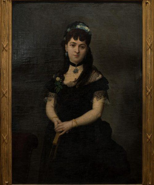 PORTRET DE FEMEIE (SOŢIA MINISTRULUI VERNESCU - 1875?